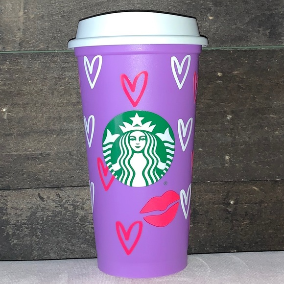 💜💕Custom Starbucks Lilac Hot Cup💕💜
